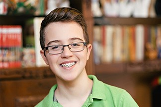 Teen Boy with Glasses and Braces